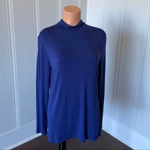 Liz Claiborne Long Sleeve Mock Neck Top L